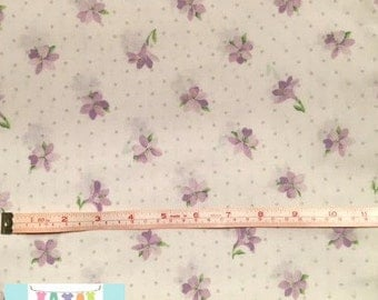 Twin Vintage Flat Sheet with Purple Small Flowers