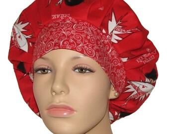 Kick Heart Disease-Bouffant Scrub Hat-ScrubHeads-Scrub Caps-Heart Disease Scrub Hat-Anesthesia Scrub Hat-Heart Disease Awareness-Scrub Hat