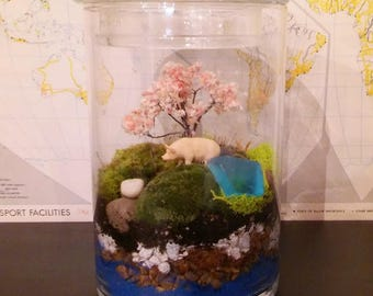 Moss Terrarium, Choose Your Favorite FARM ANIMAL