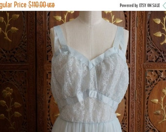 """ON SALE Vintage 1950s SEAMPRUFE """"Old Stock"""" Lingerie Gown  Sz 36"""
