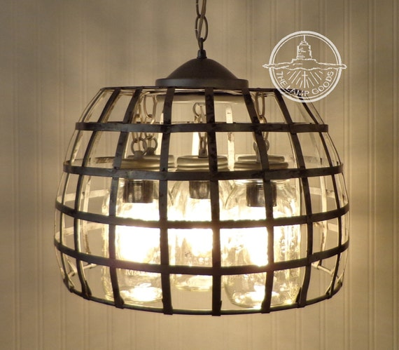 Mason Jar Light Farmhouse Chandelier 5 Light Country Island