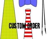 Custom Order for Tamara, 5 Mens Self-Tie Blush Bow Ties