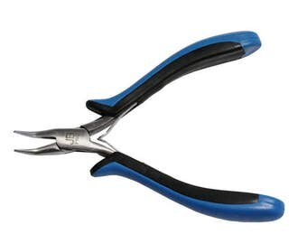 Micro Bent Nose Chain Pliers - stainless steel with comfort grip handles - a great tool for working with jump rings or chain