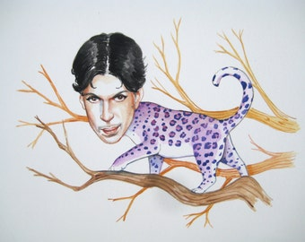 Prince the creepy purple leopard