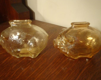 Two Little anchor hacking glass piggy banks