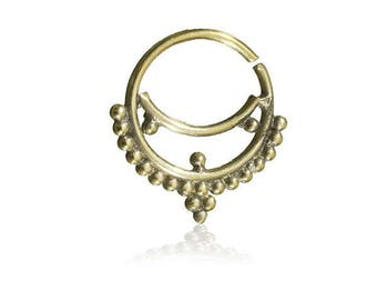 Lalani Brass Cartilage earring, Tragus, Helix ring, Septum Ring,  Septum Jewellery, Tragus Ring, Cartilage Ring, Nose Ring
