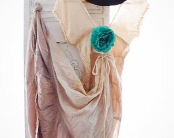 Off the shoulder dress, boho dress, gypsy fortune teller bohemian dress, Autumn coffee boho maxi dress, shabby cottage True rebel clothing