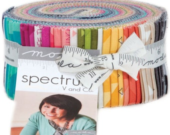 "Spectrum Jelly Roll by V and Co. for Moda Fabrics 10860JR 40 2.5"" x 42"" Fabric Strips"