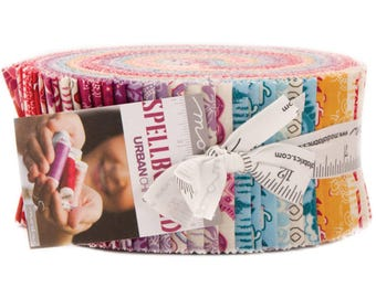 """Spellbound Jelly Roll by Urban Chiks for Moda Fabrics 31110JR 40 2.5"""" x 42"""" Fabric Strips"""