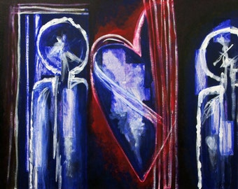 Heart and Soul / 24x30 Original Acrylic Painting