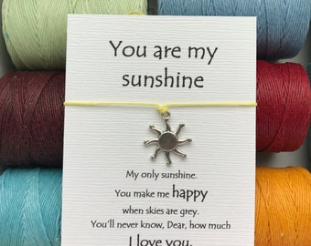 You are my SUNSHINE wish bracelet