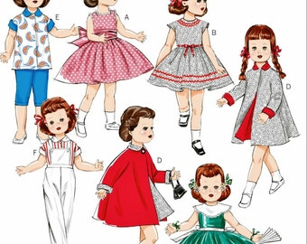 """Retro 50's 18 inch Doll Clothes Pattern, 18"""" Doll Clothes Pattern, 18 in Doll Clothes Pattern, Butterick Sewing Pattern 5865"""