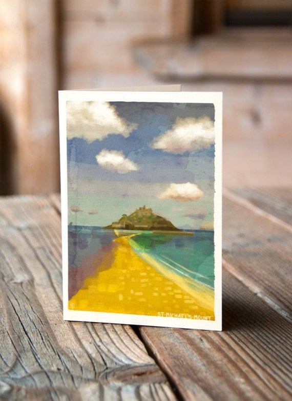 Cornish Coasts - St Michaels Mount Greetings Card