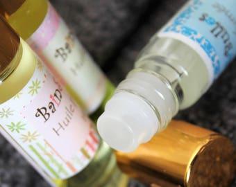 Huile parfumée de corps, parfum roll-on, parfum flacon à bille, parfum