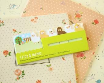 Alpaca Stick & Memo sticker note tabs