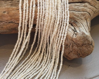 Fresh Water Pearls Seed Bead Size White Pearl Strands