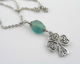 Celtic Tree of Life Necklace with Blue Fluorite, Fluorite Necklace, Fluorite Jewelry, Tree of Life Jewelr, Tree Necklace, Celtic Necklace