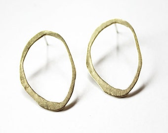 Imperfect Oval Earrings