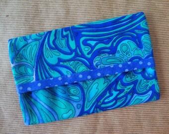 Blue Travel Tissue Cover - Kleenex Case Cover - Tissue Holder - Purse Tissue Cozy - Handbag Tissue Case