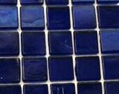 """15mm (3/5"""") Deep Cobalt Blue Semi-Transparent Glass Mosaic Tiles//Mosaic Supplies/Crafts"""