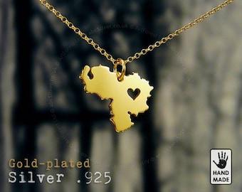 Venezuela 24k Gold Plated Sterling Silver .925