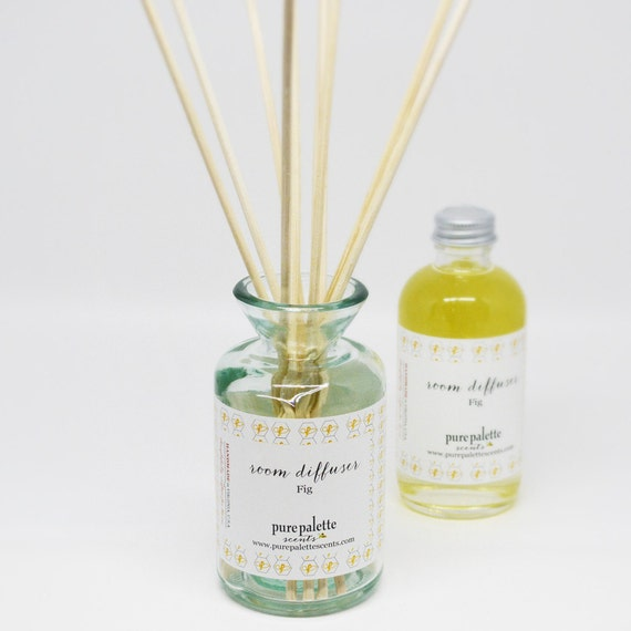 Reserved Listing - Oakmoss Sandalwood Diffuser Set Ruby Recycle Bottle Alcohol Free with Natural Undyed Reeds Eco Friendly Vegan