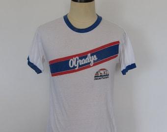 Vintage O'GRADYS Potato Chips DENVER Nuggets Ringer T-Shirt