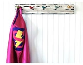 Superhero Cape Personalized Letter Lightening Bolt Hot Pink and Purple , 2T - 7T, super fan birthday gift fast delivery Worldwide