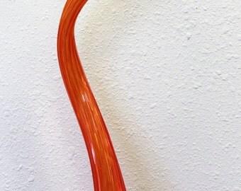 """Hand Blown Glass Art Garden Crystal RED 28"""" Finial Garden Sculpture Oneil 7270"""