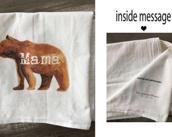 Flour Sack Towel - Mama Bear kitchen