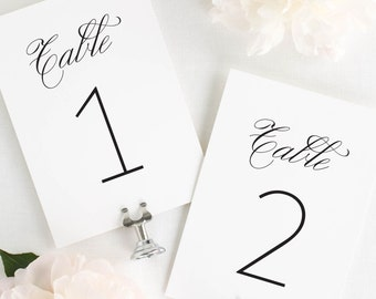 1940s Table Numbers - 4x6""