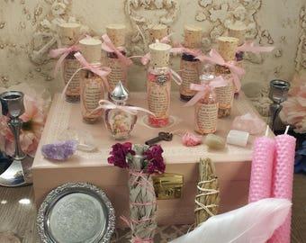Witch's Box, Witch Charm Box,  Goddess Charm Box, Altar Box, Ritual Supplies, Witch Box, Skeleton Key