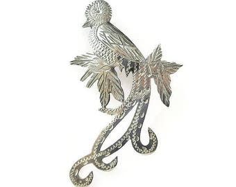 Vintage Silver Quetzal Bird Brooch - Guatemala Bird, 900 Silver, Vintage Brooch, Vintage Jewelry