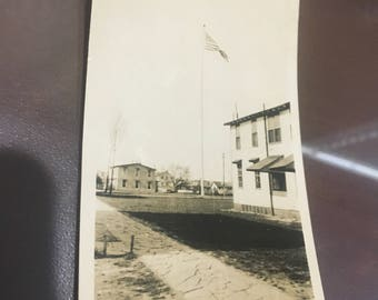 Camp Meade Maryland 1933 old glory flying 2x4.
