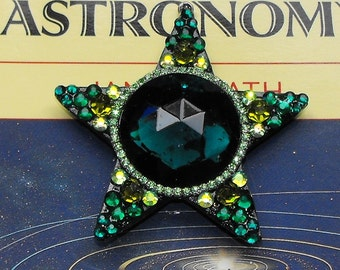 "Elfland 2.5"" shining star, swarovski gems, glittery, sparkle, star, necklace, pendant, magical, fairy, Goddess, forest, woodland, leprechaun"