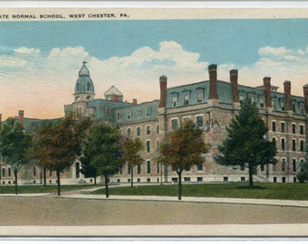 West Chester University Campus View Pennsylvania 1930 postcard