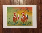 Reserved Listing - 13 x 19 Fox Art Print