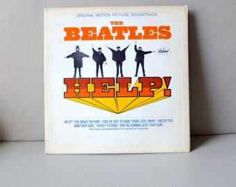 The Beatles HELP! 1965 LP MAS-2386 T9P Soundtrack Album Ken Thorne Capitol Records Very Good Condition 1960s Music Collector Cool