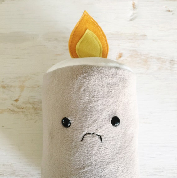 Sad Toasted Marshmallow Plushie - READY TO SHIP