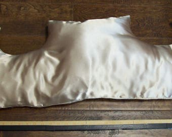 Breast cancer recovery pillow, satin, custom made new