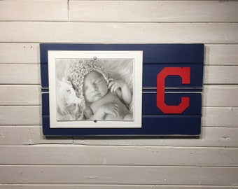 "Cleveland Indians picture frame holds 1-8""x10"" photo"