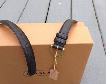 Vintage Black Leather Coach Belt / Women Belt / Coach Designer Belt