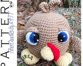 INSTANT DOWNLOAD : Baby Butterball the Turkey Crochet Pattern