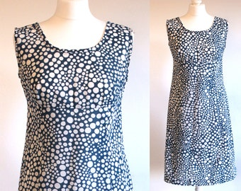 60s dress, vintage dress, 1960s dress, vintage 60s dress, mod dress, 60s mod dress, sleeveless dress, polka dot dress, summer dress, mad men