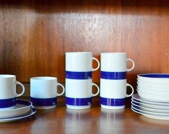vintage thomas china tea set / rosenthal / hans theo baumann / midcentury german china