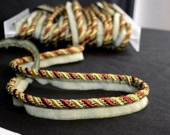 1010T 8770 Lip Cord Green Gold Rust Red