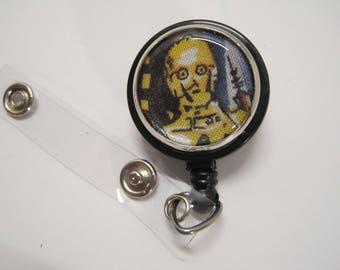 C-3PO Badge Reel, retractable badge holder