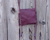Leather phone bag , small burgundy leather bag , handmade leather purse , simple phone bag , Minimalist handbag , Crossbody bag