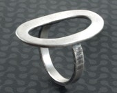 SALE Circle  Sterling Silver Ring - Doors of Perception, Open Eternity Ring, Cocktail Ring , Statement Ring , Handmade Jewelry