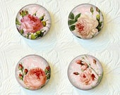"Floral Magnets, Choose your Favorite from the 3 Different Prints, 1.5"" Size, Buy 3 Sets Get 1 Set Free  511M"